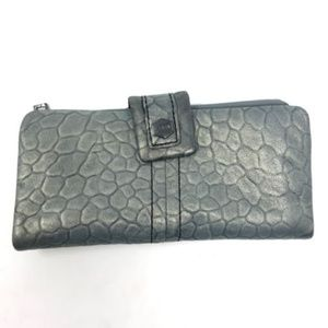 Lodis Leather Bi-Fold Wallet Alligator Embossed